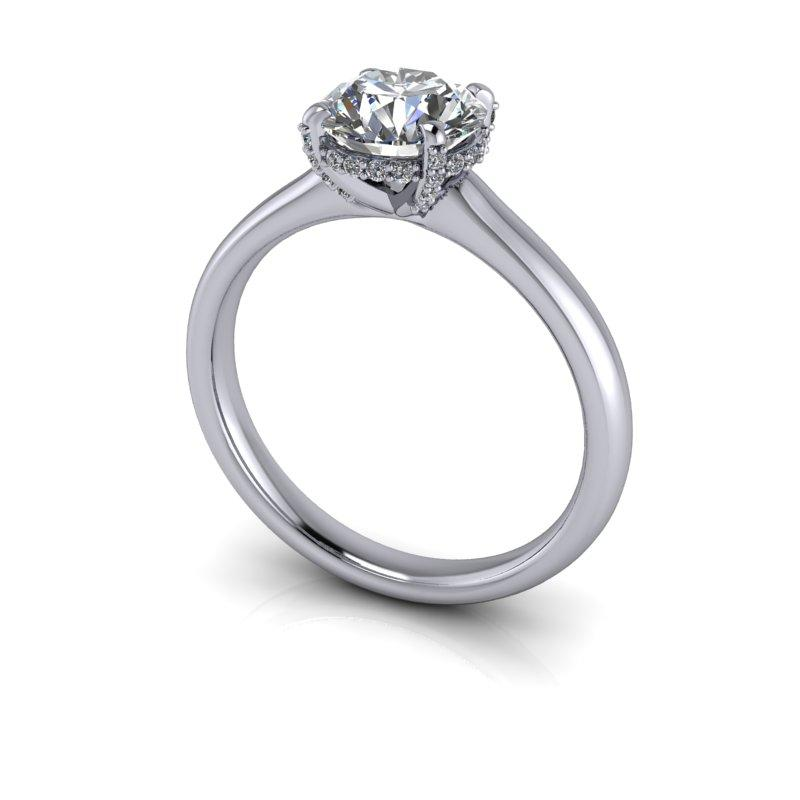 Old European Cut Moissanite Engagement Ring 1.47 ctw-Bel Viaggio Designs