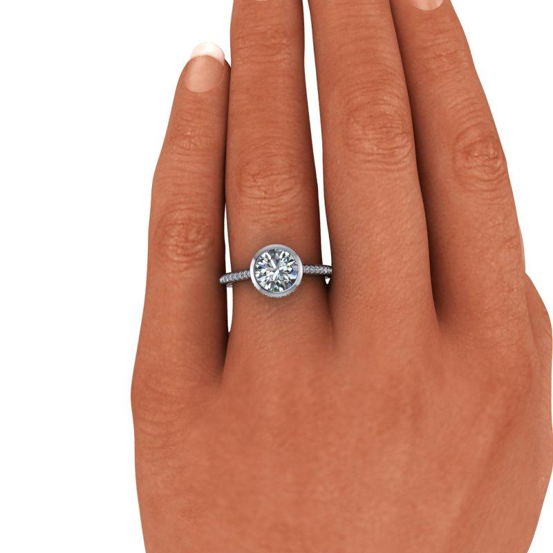 Old European Cut Moissanite Engagement Ring 1.95 ctw-Bel Viaggio Designs