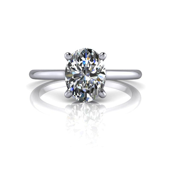 Oval Charles & Colvard Moissanite Engagement Ring 1.50 ctw-Bel Viaggio Designs