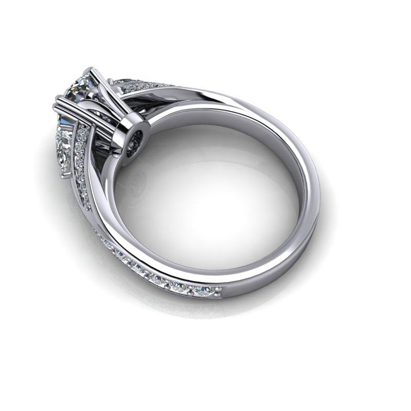 Oval Charles & Colvard Moissanite Engagement Ring 2.35 ctw-Bel Viaggio Designs