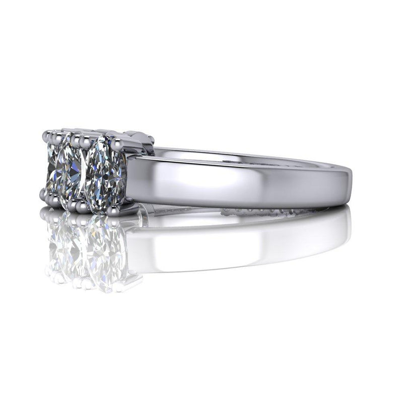Oval Colorless Charles & Colvard Moissanite Anniversary Ring 1.82 CTW-Bel Viaggio Designs