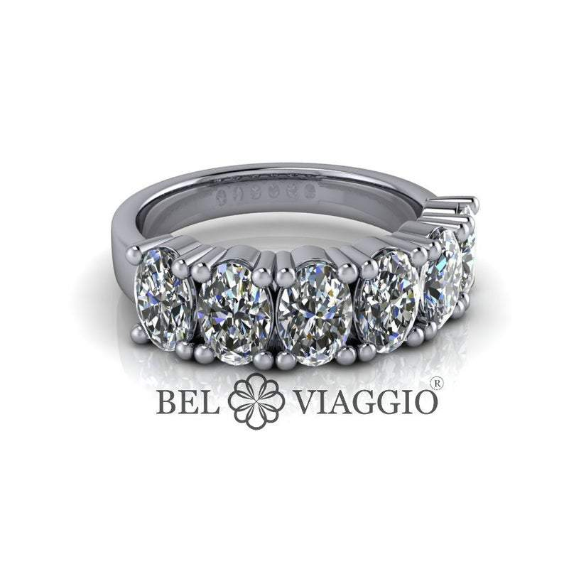 Oval Forever One Moissanite Anniversary Ring 3.00 CTW-Bel Viaggio Designs