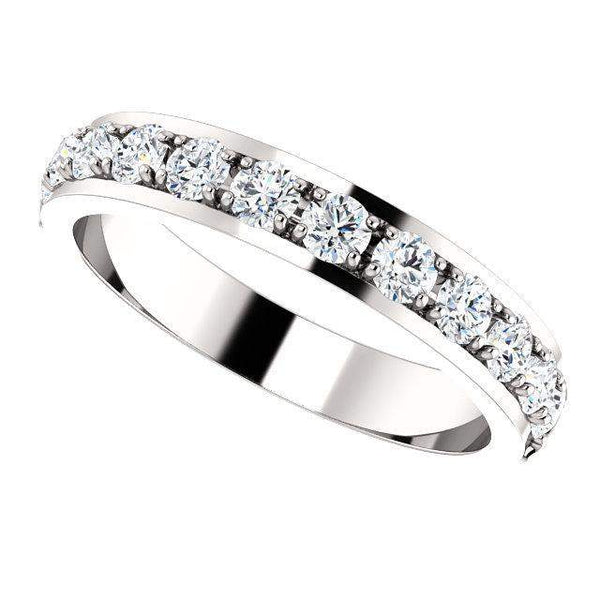 Partial Eternity 3/4 CTW Lab Grown Diamond Anniversary Band-Bel Viaggio Designs