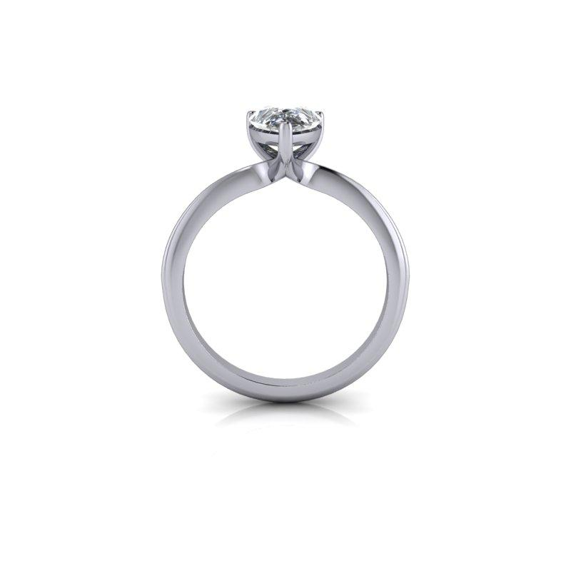 Pear Moissanite Solitaire Engagement Ring 1.50 ctw-Bel Viaggio Designs
