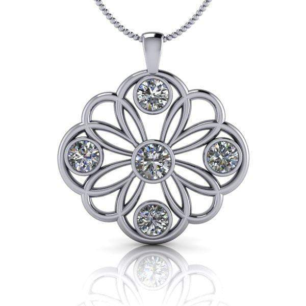 Pendant Necklace Forever One Moissanite 2.60 CTW-Bel Viaggio Designs
