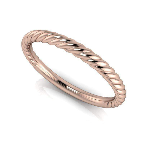 Rope Style Wedding Band - 14 kt Gold - Insieme Bridal Stackables®-BVD