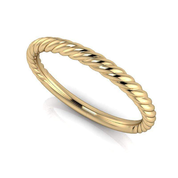 Rope Style Wedding Band Insieme Bridal Stackables®-Bel Viaggio Designs