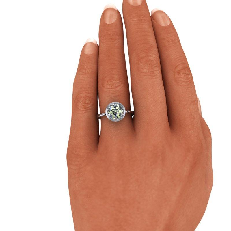 Rose Cut Forever One Moissanite Engagement Ring, 1.20 ctw-Bel Viaggio Designs