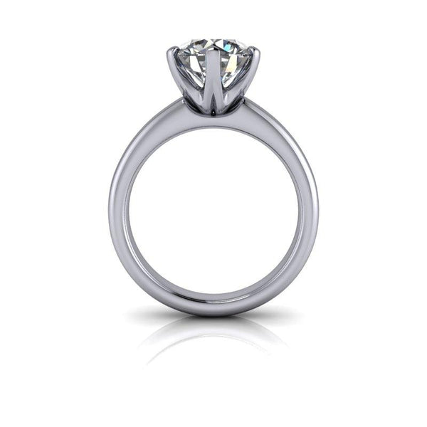 Round Hearts & Arrows Forever One Moissanite Engagement Ring 2.26 ctw-Bel Viaggio Designs