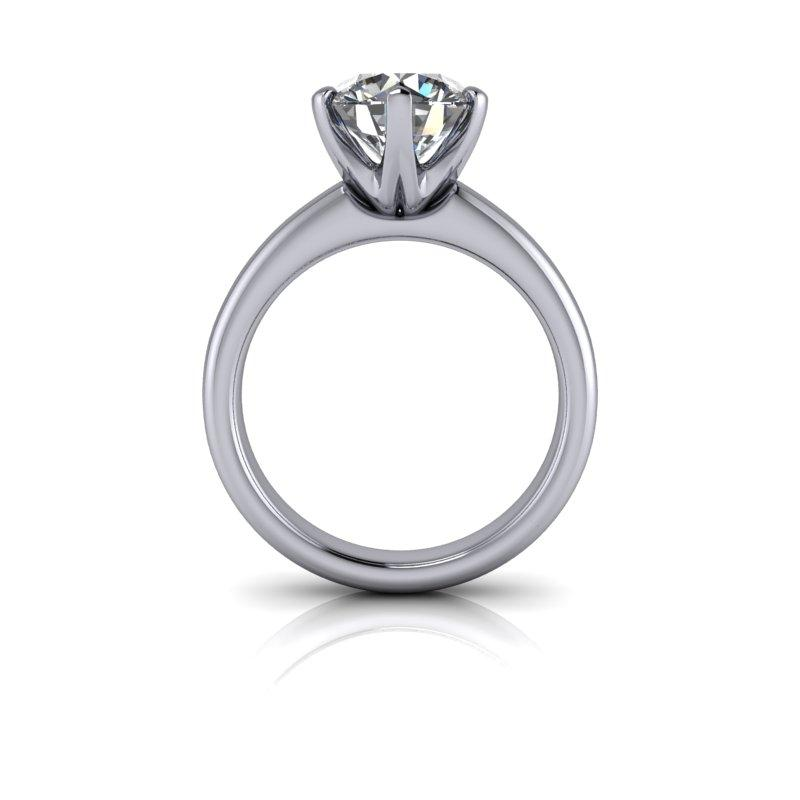 Round Hearts & Arrows Moissanite Engagement Ring/Bridal Set 2.92 ctw-Bel Viaggio Designs