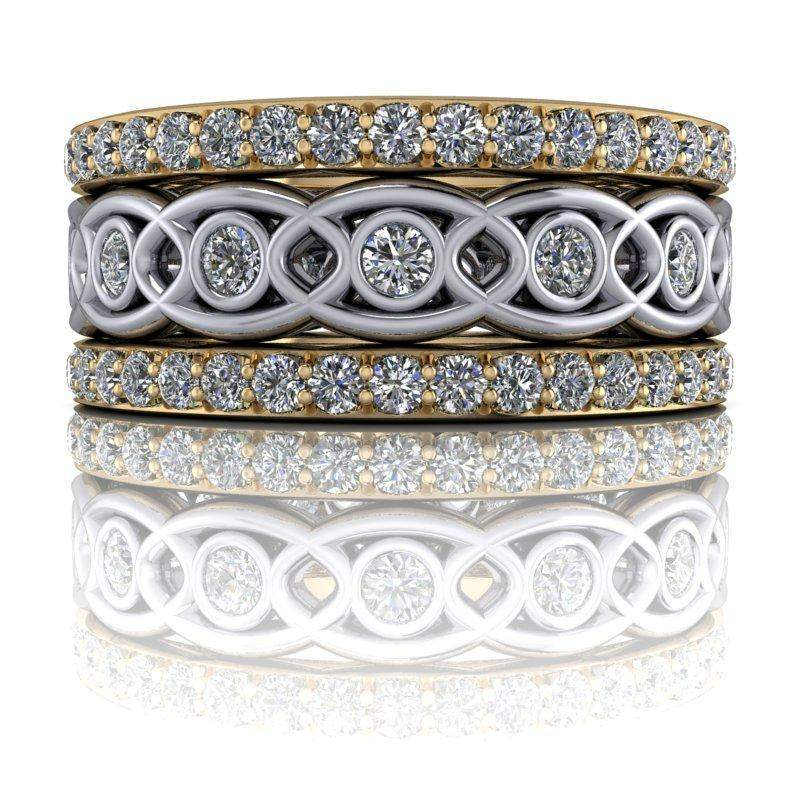 Diamond Wedding Bands/ Stacking Bands 1.42 CTW Insieme Bridal Stackables®-Bel Viaggio Designs