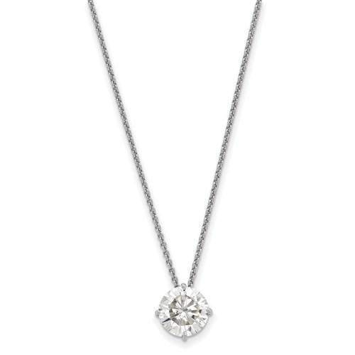 Moissanite Necklace Solitaire Pendant 1.50 ctw-Bel Viaggio Designs