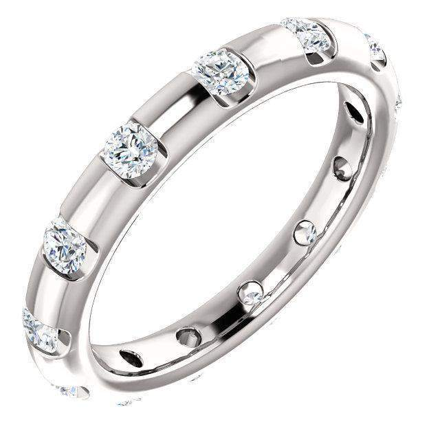 Tension Set Eternity Band Lab Grown Diamond 1/2 ctw-Bel Viaggio Designs