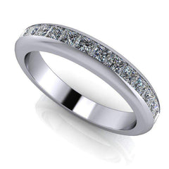 Women's Channel Set Diamond Princess Cut Eternity Band 1.67 ctw-Bel Viaggio Designs, LLC