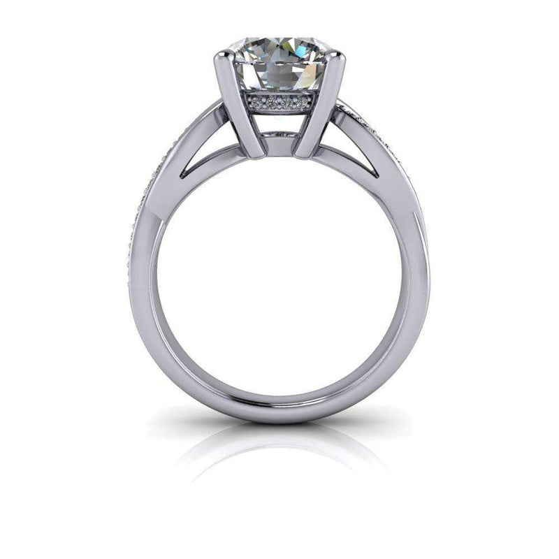 READY TO SHIP Woven Moissanite Engagement Ring 2.81 CTW-Bel Viaggio Designs