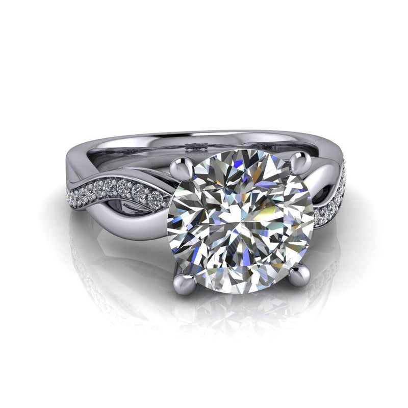 Woven Moissanite Engagement Ring 2.81 CTW-Bel Viaggio Designs