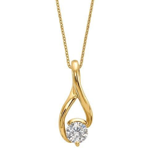 1.00 ctw Colorless Moissanite Slide Necklace-Bel Viaggio Designs