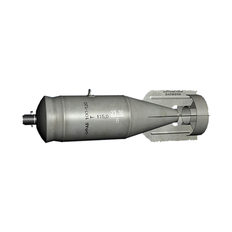 OFAB 100-120 High Explosive Fragmentation Incendiary Bomb