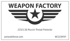 "Weapon Factory .223 / 5.56 Heavy Duty 1/2"" x 28 Muzzle Thread Protector - Dain City Arms 