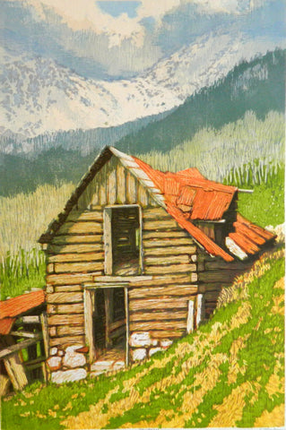 """Haybarn"" Woodblock"