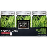 Orchard Road™ 1 Quart (32-oz) Wide Mouth Mason Jars, Set of 6