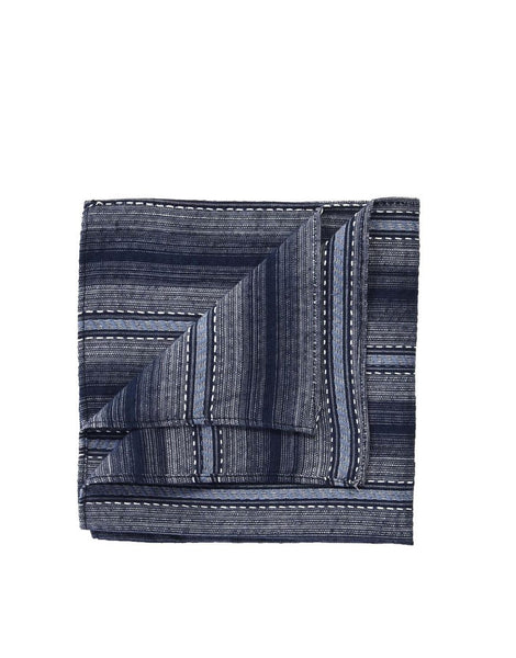 Chambray Stripe Pocket Square