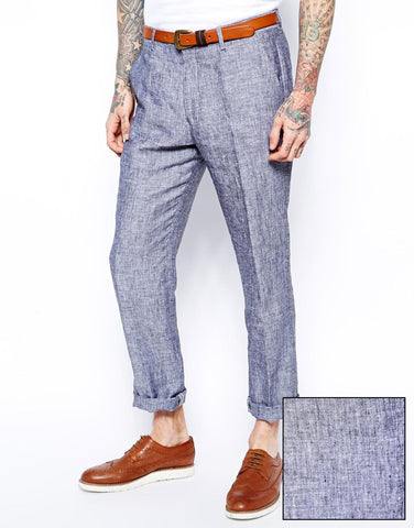 Linen Slim Fit Trousers
