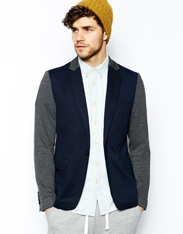 Minimum Blazer with Contrast Sleeves
