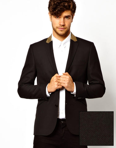 Slim Fit Blazer with Gold Lapel