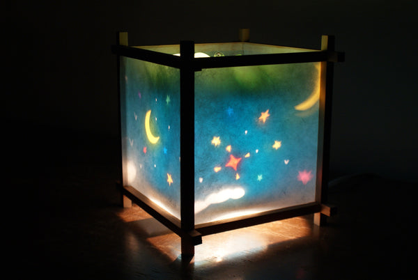Moon & Star Rotating Kids Bedside Table Lamp by Magic Lamp
