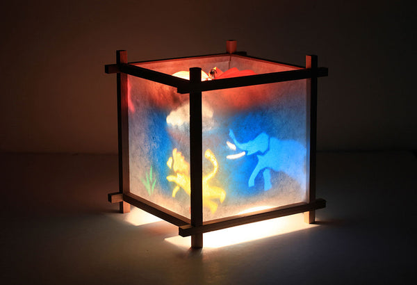 African safari animal rotating lamp for kids