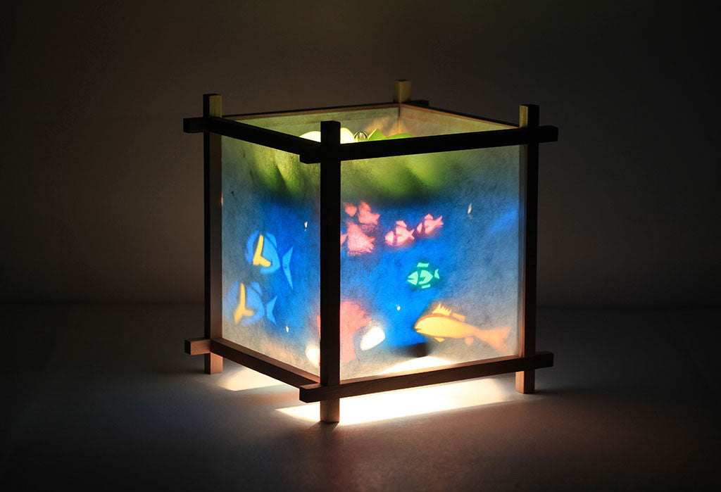 Aquarium Rotating Girls Bedside Table Lamp by Magic Lamp