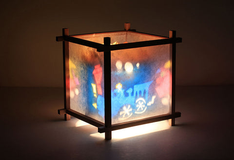 Train rotating lamp for kids