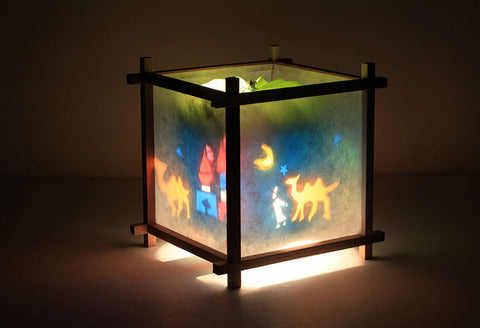 Camel rotating kids lamp