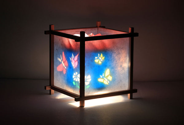 Butterfly Garden Rotating Girls Bedside Table Lamp by Magic Lamp