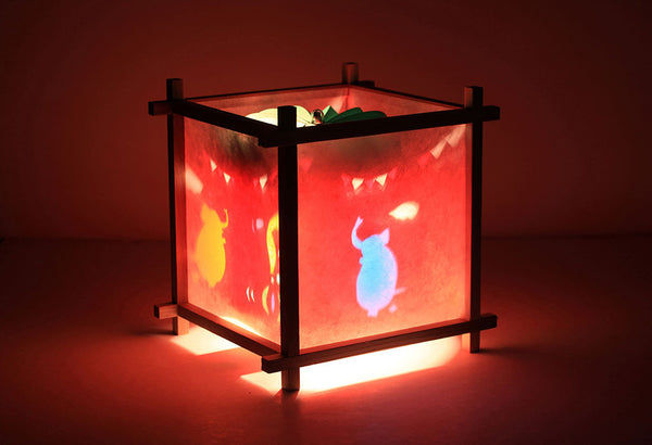 Circus rotating kids lamp