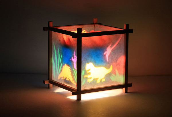 Dinosaurs Rotating Girls Bedside Table Lamp by Magic Lamp
