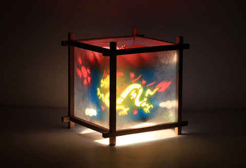Dragon Phoenix rotating kids lamps