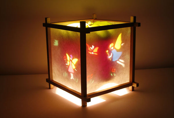 Fairy Rotating Girls Bedside Table Lamp by Magic Lamp