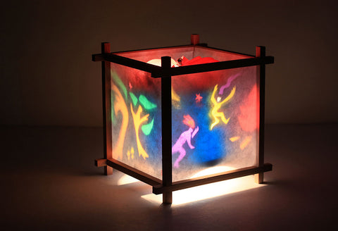 Fire dance rotating kids lamp