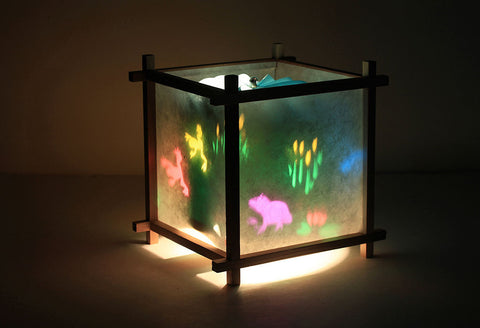 Frog pond rotating lamp for kids.