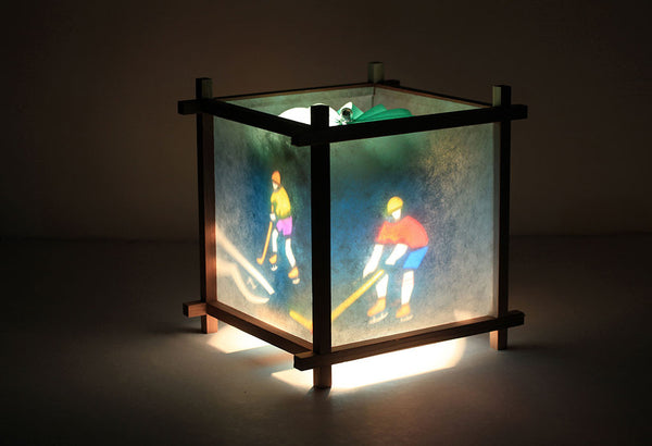 Hockey rotating kids lamp