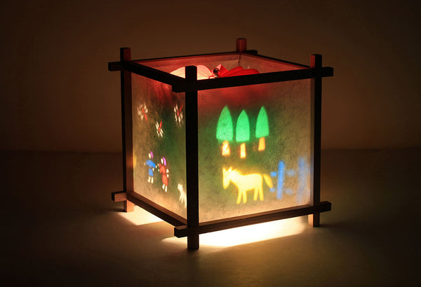 Japanese Countryside Rotating Kids Bedside Table Lamp by Magic Lamp
