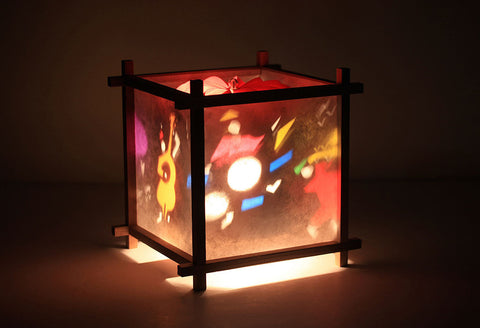 Jazz band rotating lamp for kids