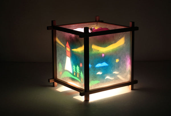 Lighthouse rotating kids lamp