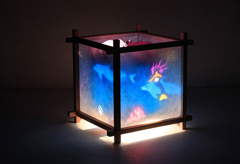 Mermaid rotating kids lamp