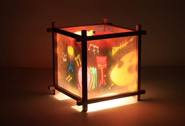 Musical instruments rotating lamp
