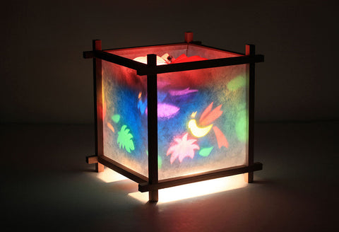 Parrot rotating kids lamp