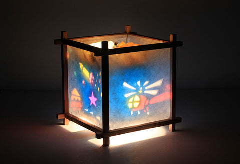 Rocket rotating lamp for kids