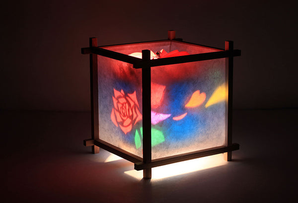 Rose rotating kids lamp